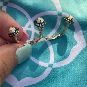 Kendra Scott Size Large Double Finger Gold Ring